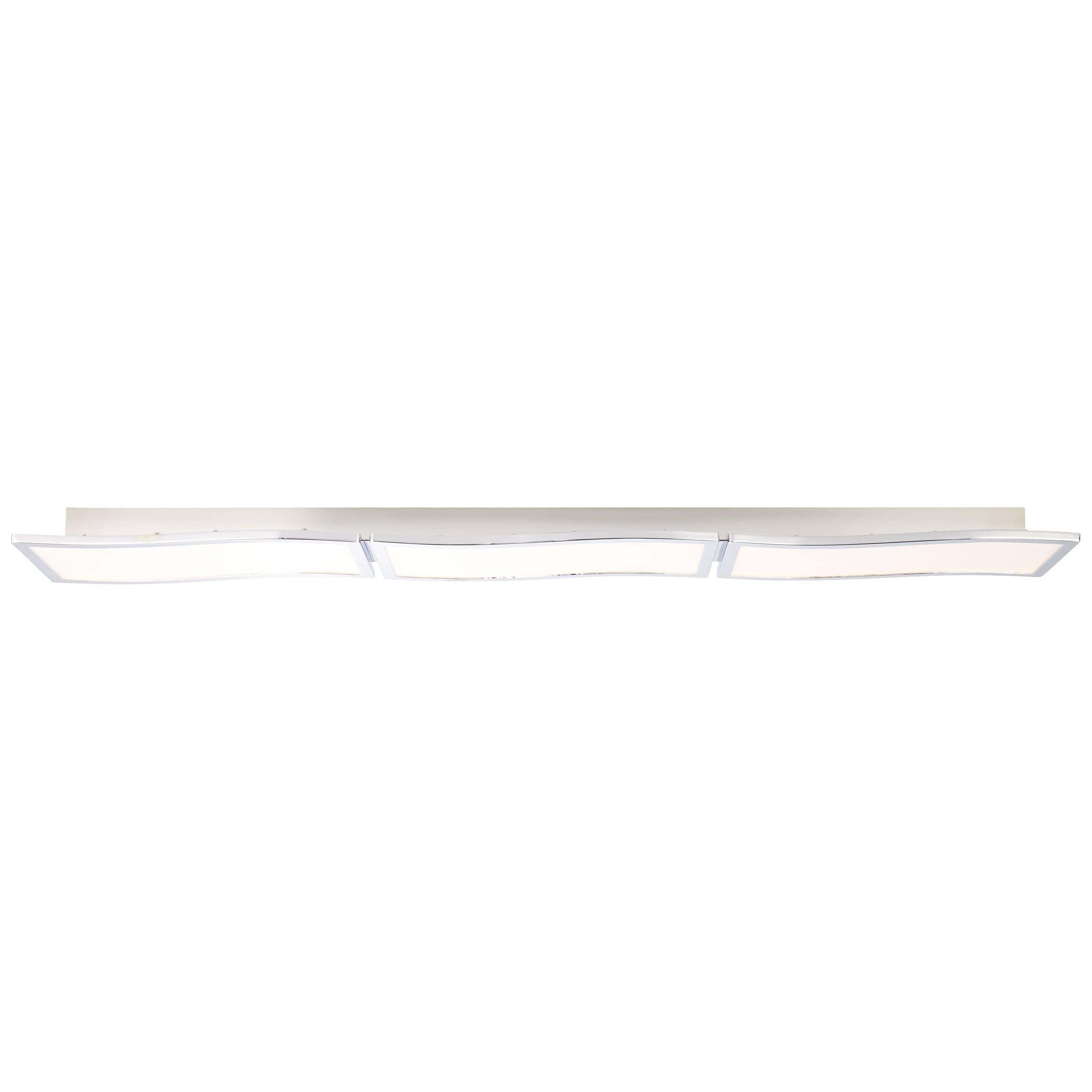 Brilliant Leuchten Scope LED Deckenaufbau-Paneel 122x18cm chrom/weiß easyDim