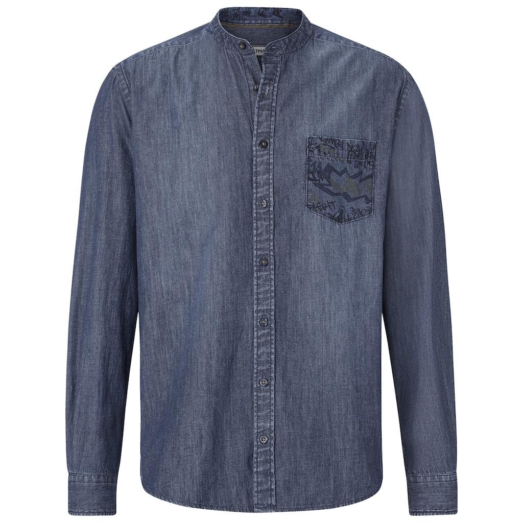 SHIRTMASTER Jeanshemd »funkydenim«, mit verzierter Brusttasche