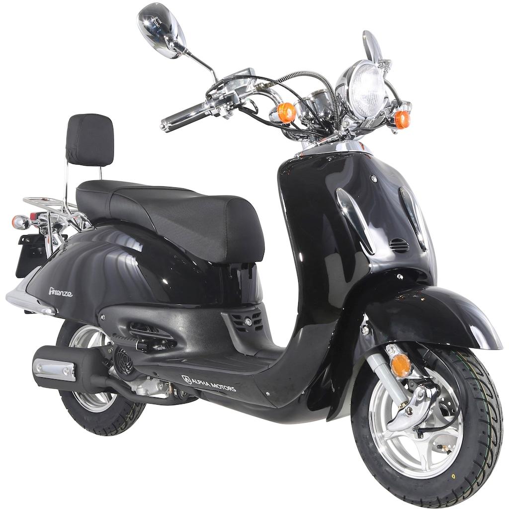 Alpha Motors Motorroller »Retro Firenze«, 3 PS, 50 ccm, 45 km/h, schwarz