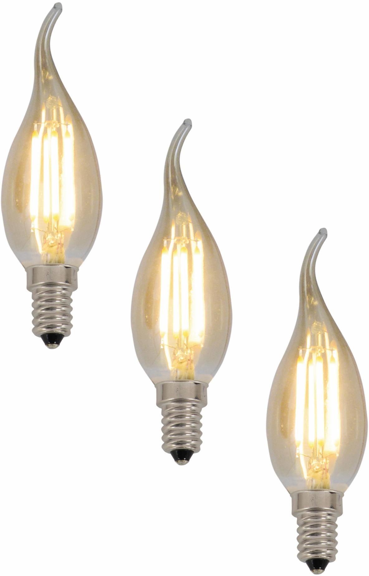 Näve LED Leuchtmittel, 3er Set, »E14 Filament K...