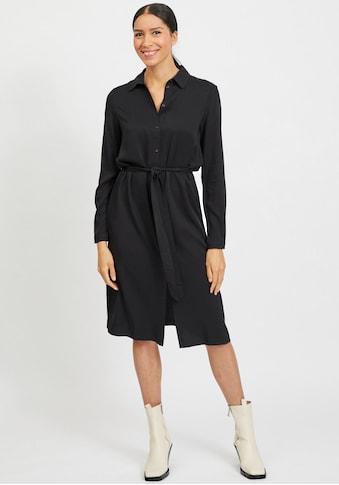 Vila Hemdblusenkleid »VIDANIA«, mit Bindegürtel kaufen