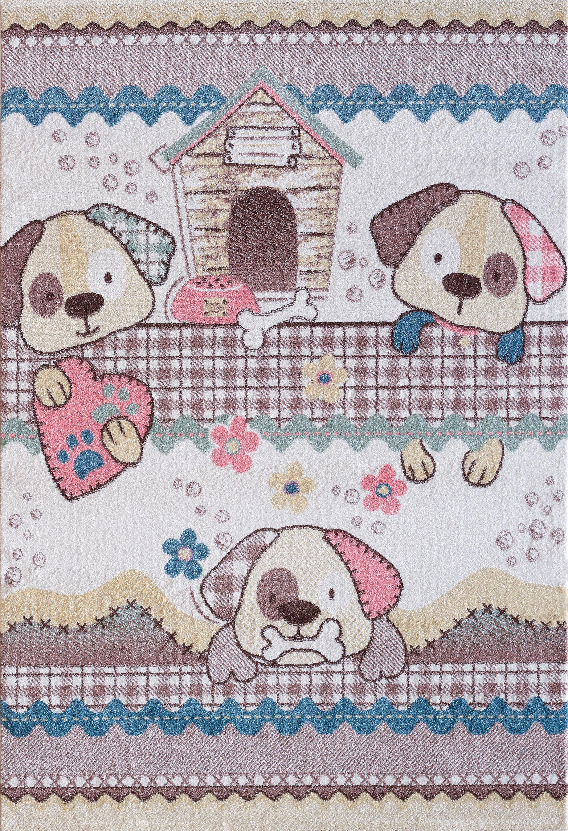 Sanat Kinderteppich Luna Kids 4603, rechteckig, 12 mm Höhe bunt Kinder Bunte Kinderteppiche Teppiche