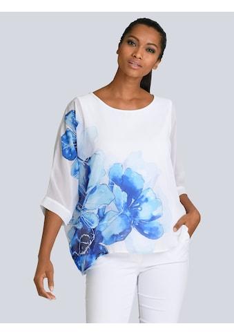Alba Moda Druckbluse, unterlegt mit Jersey kaufen