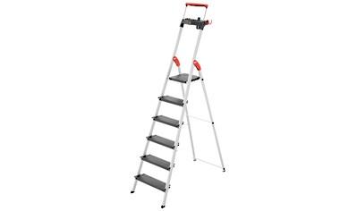 HAILO Stehleiter »L100«, 6 Stufen, max. Arbeitshöhe: 328 cm kaufen