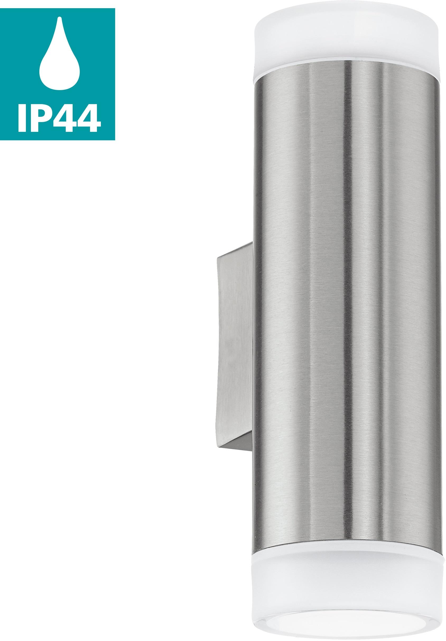 EGLO LED Außen-Wandleuchte RIGA-LED, GU10, Warmweiß, Eckmontage möglich