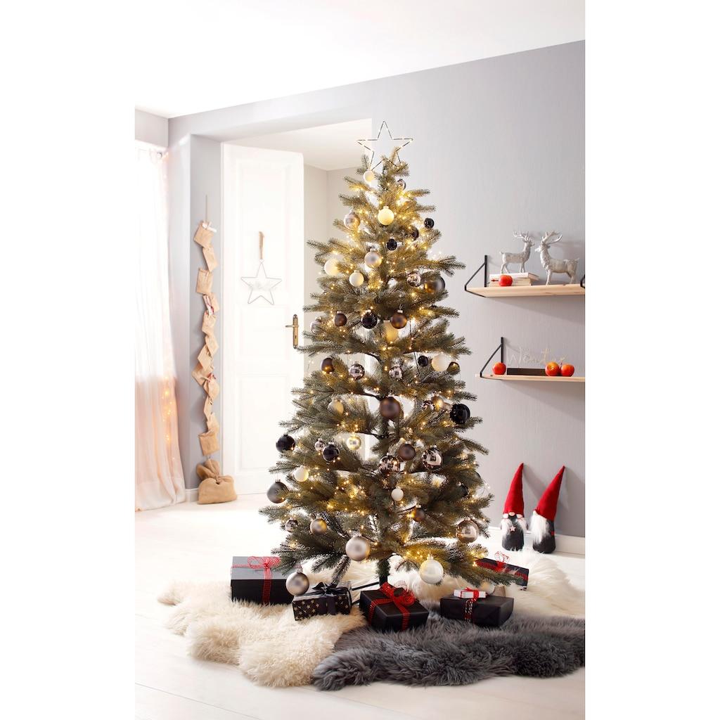 Thüringer Glasdesign Weihnachtsbaumkugel »Black & White«, (Set, 50 St.)