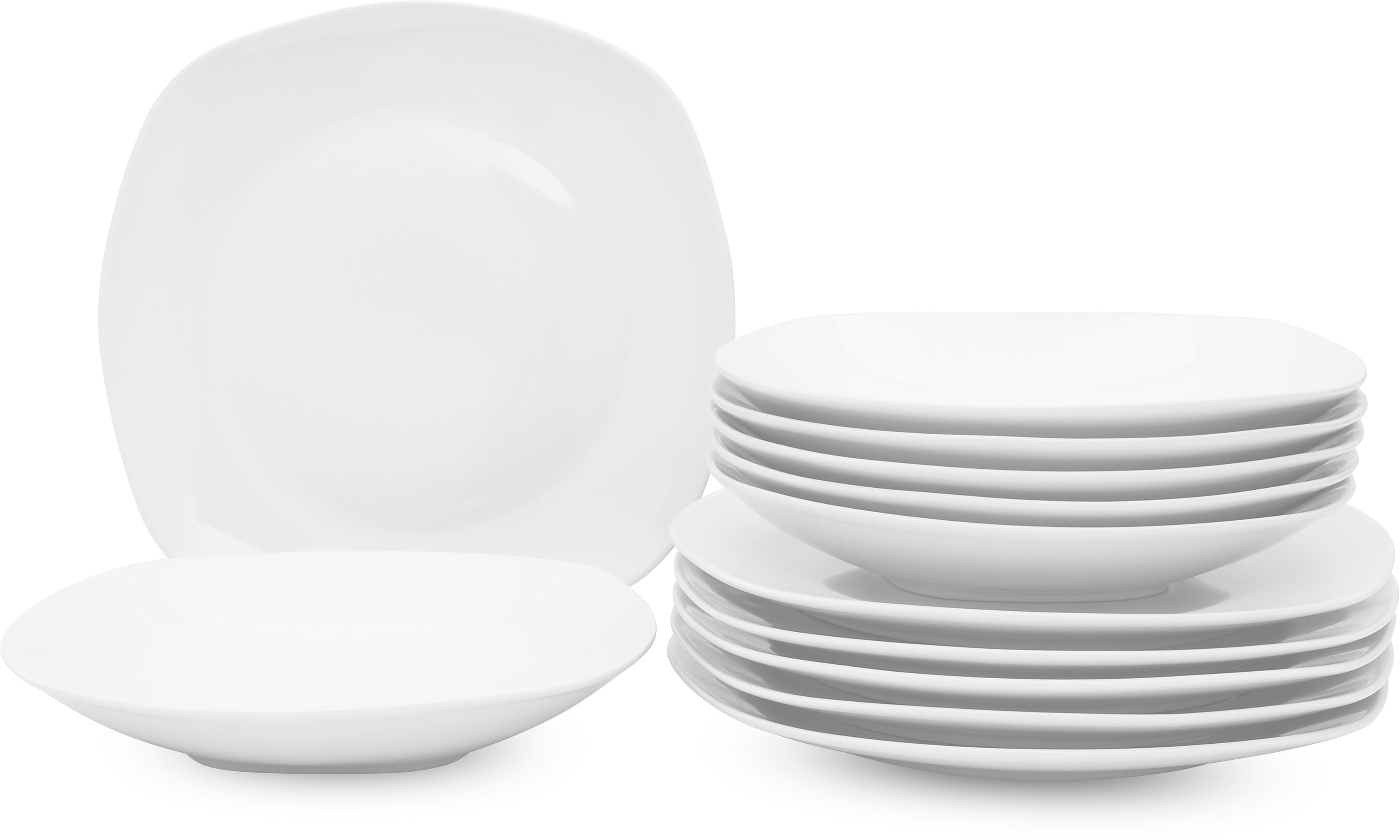 Retsch Arzberg Tafelservice Fino, (12 tlg.) weiß Geschirr-Sets Geschirr, Porzellan Tischaccessoires Haushaltswaren