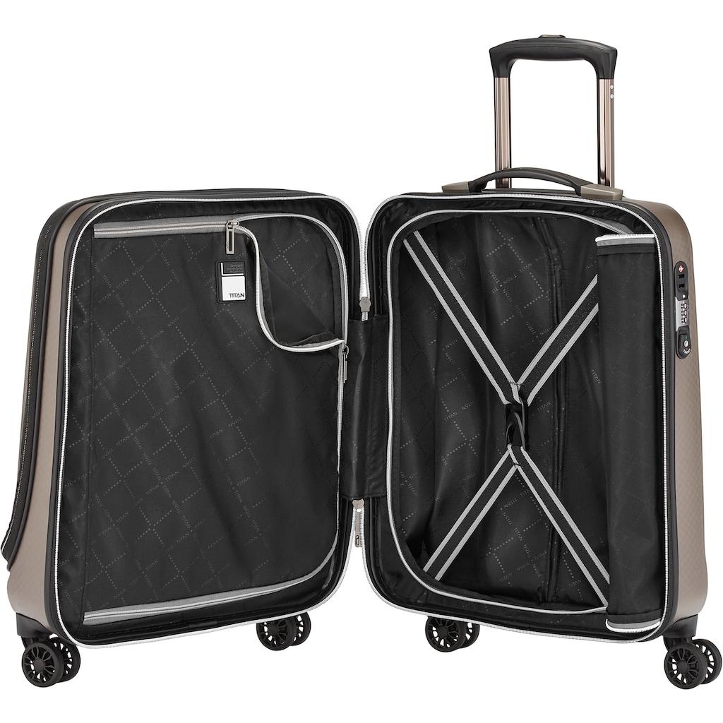 TITAN® Business-Trolley »Xenon Deluxe, 55 cm, Champagne«, 4 Rollen, mit Tablet- und Laptopfach