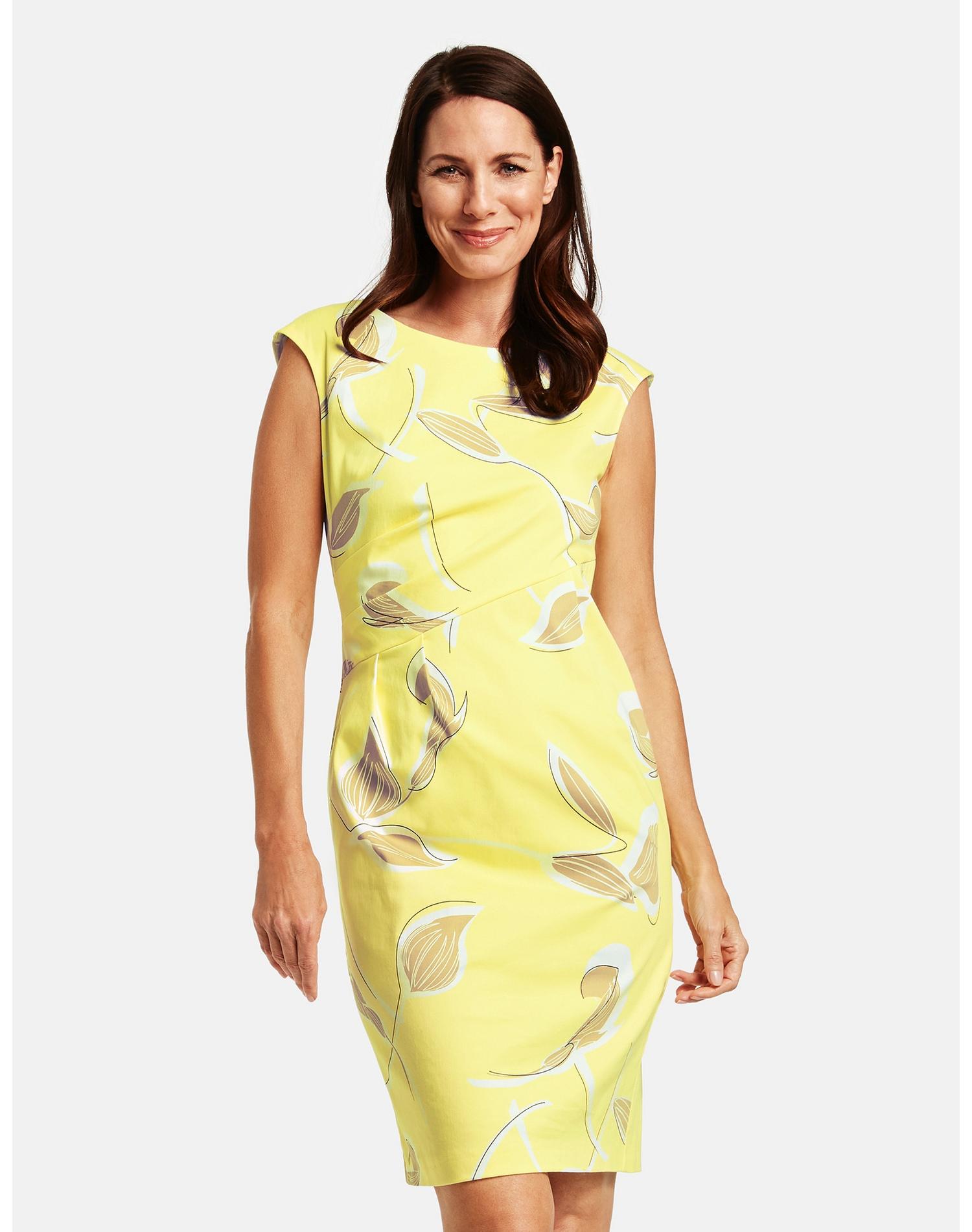 gerry weber -  Kleid Gewebe Etuikleid mit seitlichem Drapée