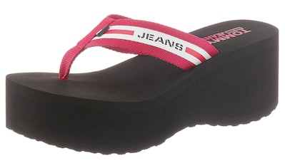 TOMMY JEANS Zehentrenner »CHUNKY TAPE BEACH SANDAL« kaufen