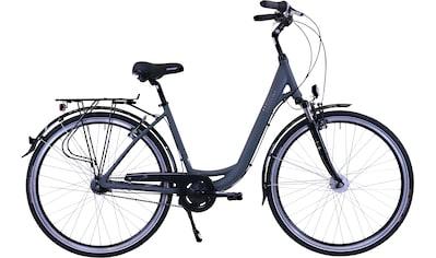 HAWK Bikes Cityrad »HAWK City Wave Deluxe Grey«, 7 Gang, Shimano, Nexus Schaltwerk kaufen