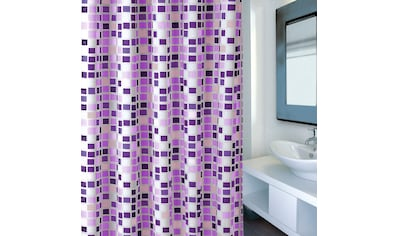 MSV Duschvorhang »Premium Mosaico Violet« kaufen