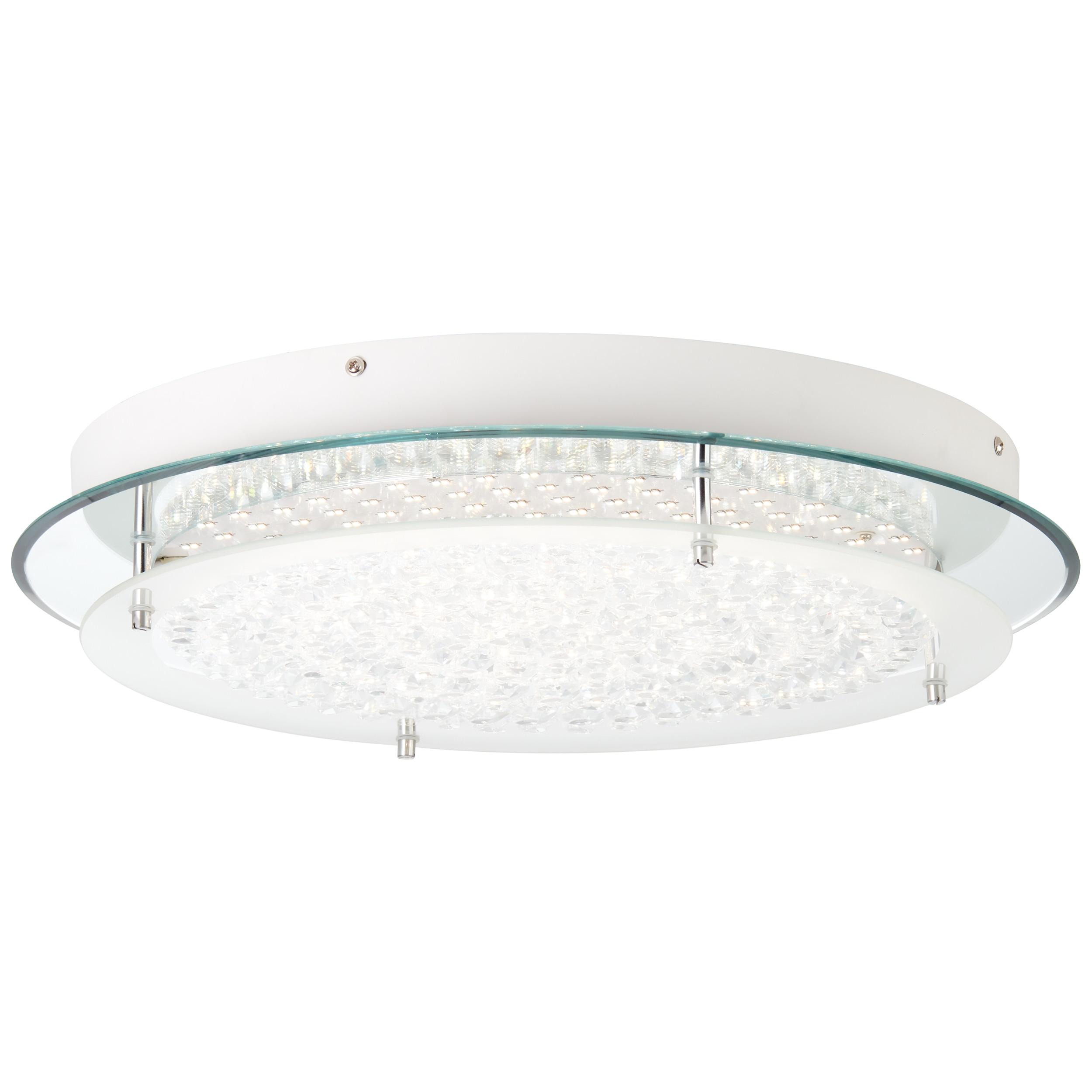 BreLight Jolene LED Wand- und Deckenleuchte 45cm chrom/transparent