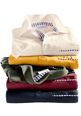 Marco Donati Kurzarm - Shirt mit Polokragen kaufen