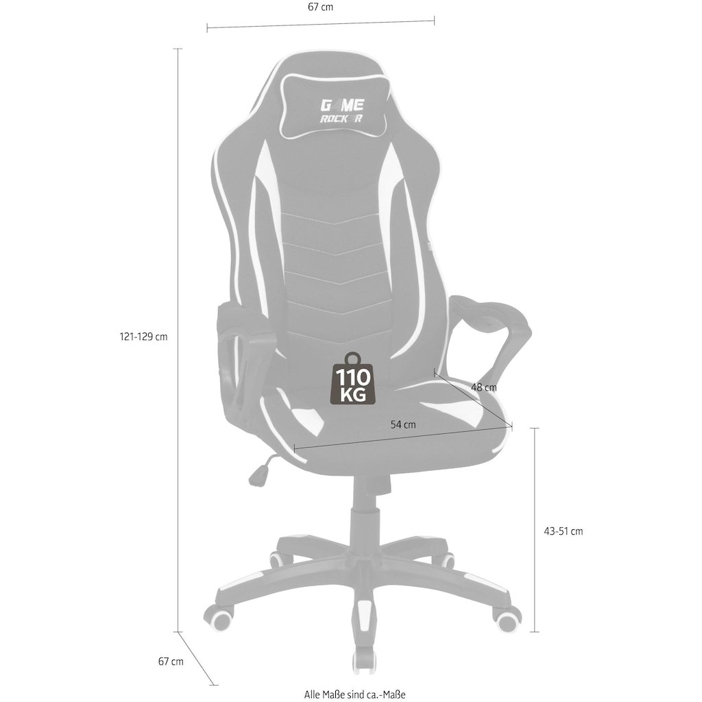 Duo Collection Gaming Chair »Game-Rocker R-10«