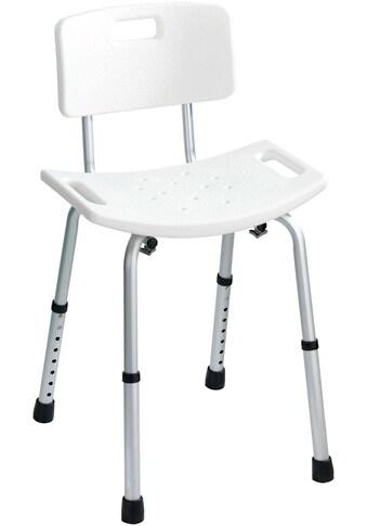 WENKO Dusch -  und Badhocker Secura mit Rückenlehne, belastbar bis 130 kg kaufen