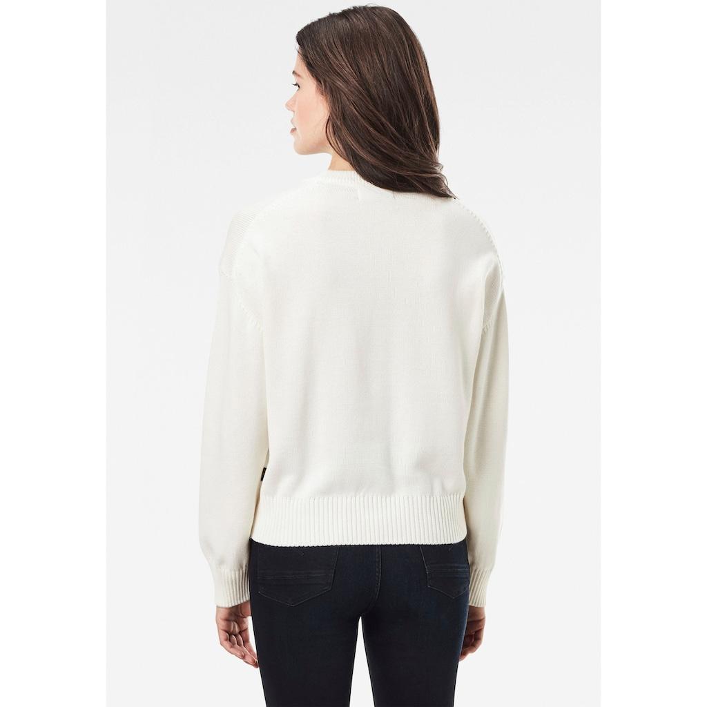 G-Star RAW Sweatshirt »Raw space gr bf r knit«, mit großem Frontdruck