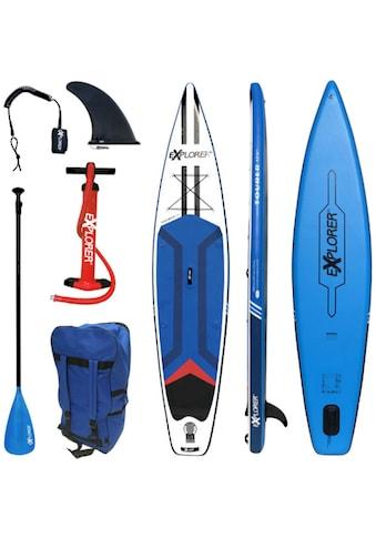 EXPLORER Inflatable SUP-Board »Tourer«, (6 tlg., mit Paddel, Pumpe und Transportrucksack) kaufen