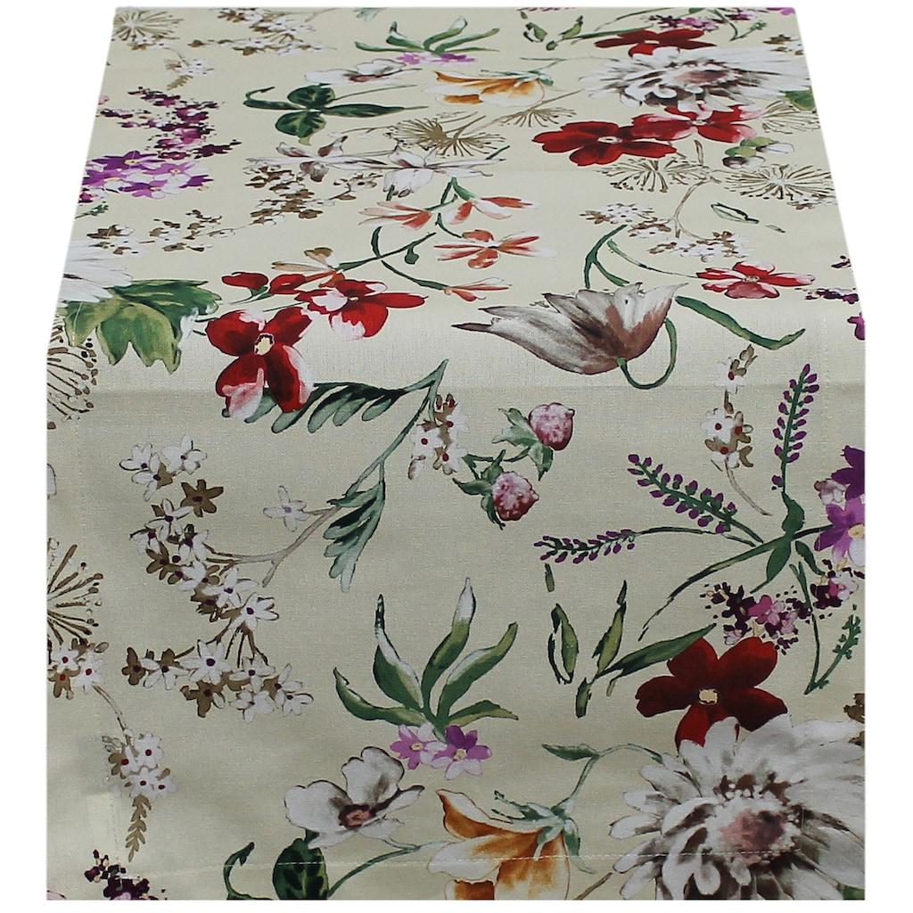 HOSSNER - HOMECOLLECTION Tischläufer »Floral«, (1 St.)