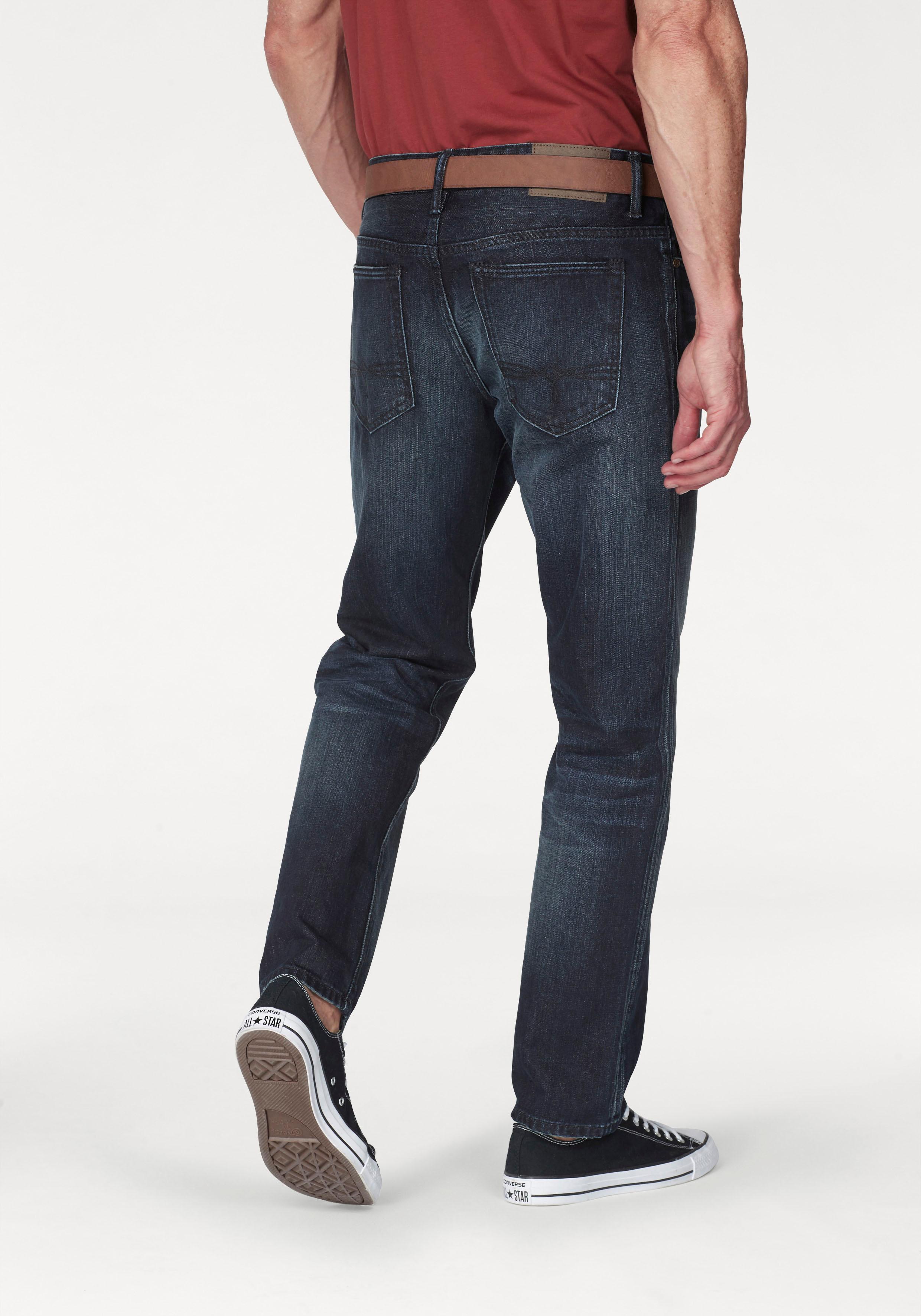 s.Oliver Slim-fit-Jeans (Set, mit Gürtel) blau Herren Slim Fit Jeans