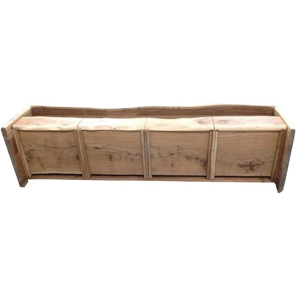 SIT Lowboard »Albero«, massive Akazie mit Baumkante, Breite 190 cm