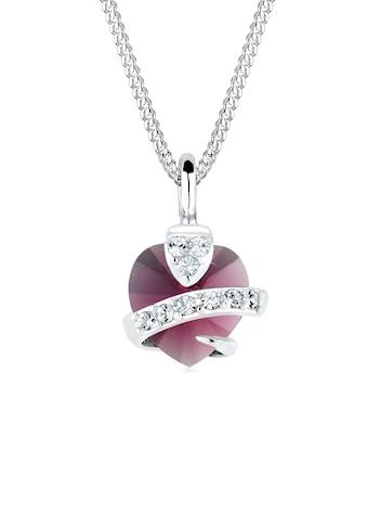 Elli Collierkettchen »Herz Kristalle 925 Silber Adorable« kaufen