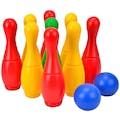 SIMBA Spielzeug-Gartenset, Kegelspiel mit Halterung