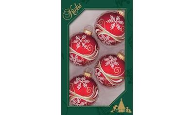 """Krebs Glas Lauscha Weihnachtsbaumkugel """"Schneesterne"""" kaufen"""