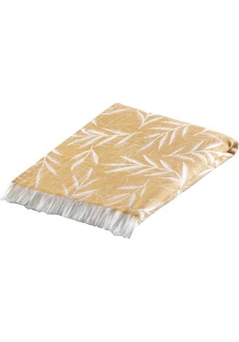 BIEDERLACK Plaid »Artless«, Trendmaterial Leinen kaufen