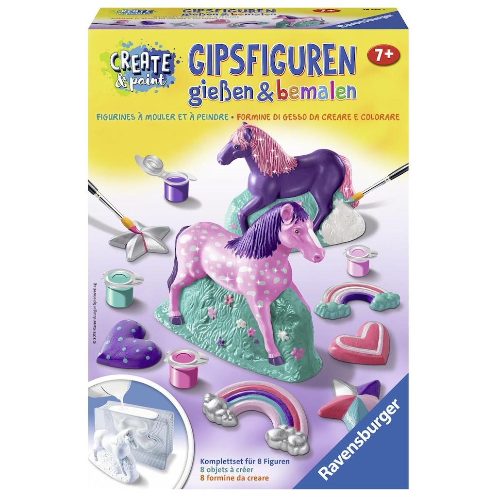 Ravensburger Kreativset »Create & Paint Fantasy Horse«, (Set), Mit 3D und 2D Gießform; Made in Europe; FSC® - schützt Wald - weltweit