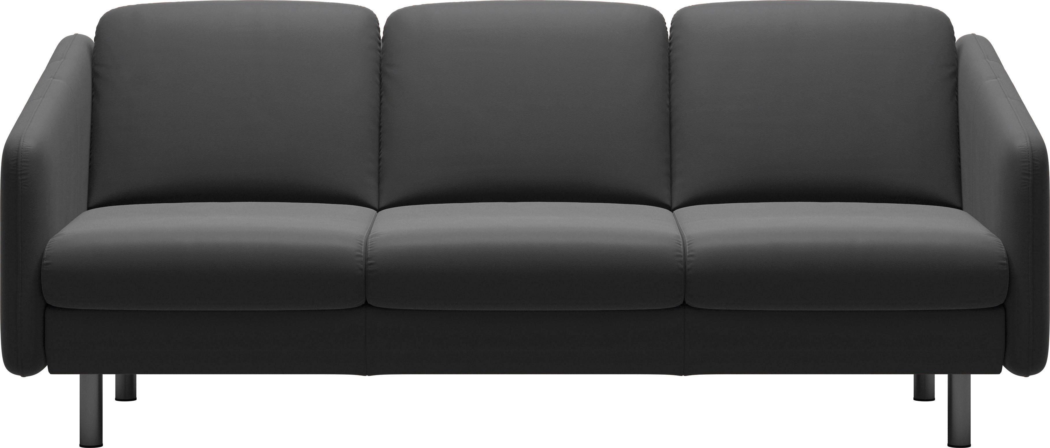 Stressless® 3-Sitzer Trio »Eve« mit geraden Edelstahlfüßen in 2 Höhen   Wohnzimmer > Sofas & Couches > 2 & 3 Sitzer Sofas   Leder - Stoff - Polyester   STRESSLESS