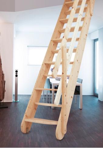 STARWOOD Raumspartreppe »Samos«, B: 60 cm, Fichte, inkl. Holzgeländer kaufen