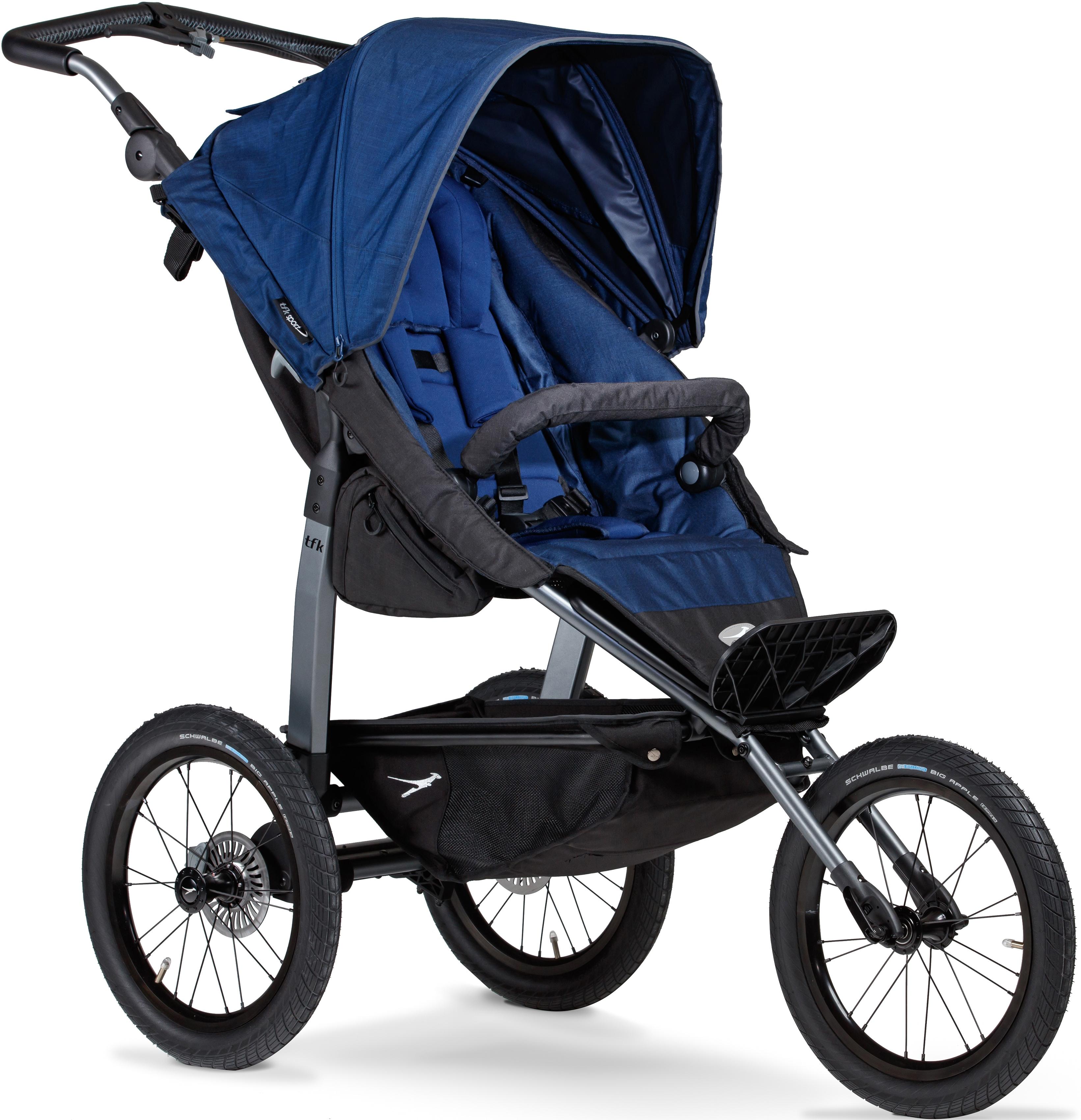 tfk Dreirad-Kinderwagen Sport, 34 kg, Luftreifen, Kinderwagen, Jogger, Dreiradwagen, Jogger-Kinderwagen, Dreiradkinderwagen blau Kinder Kinderwagen Buggies