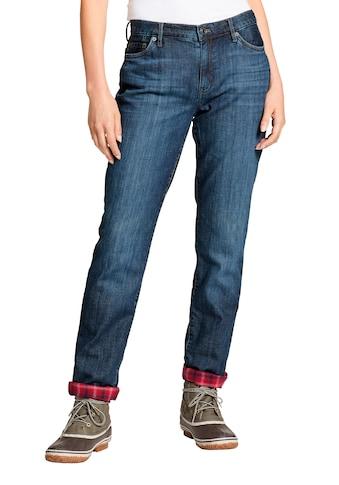 Eddie Bauer 5-Pocket-Jeans, Boyfriend mit Flanellfutter kaufen