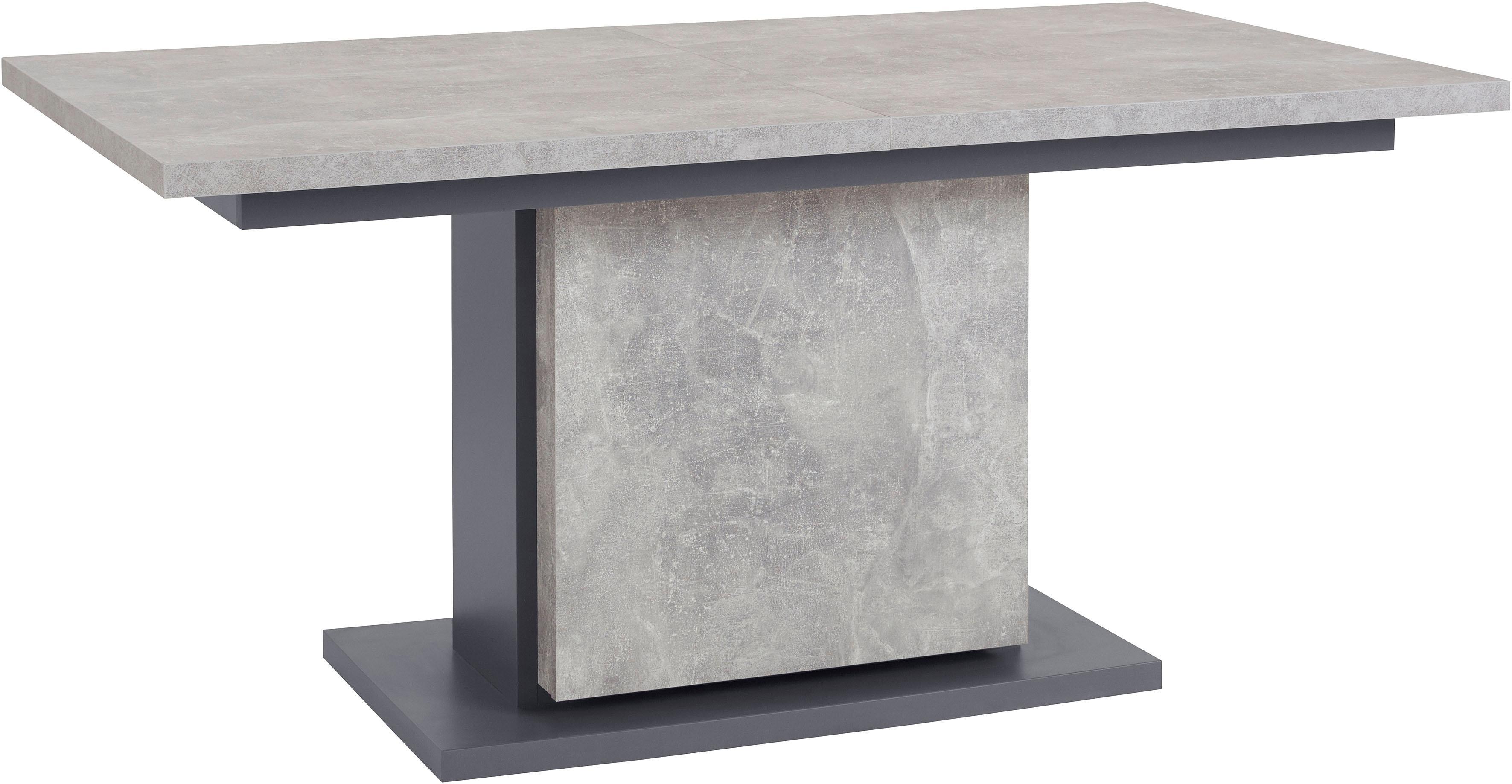 Homexperts Säulen-Esstisch mit Auszug Breite 160 cm