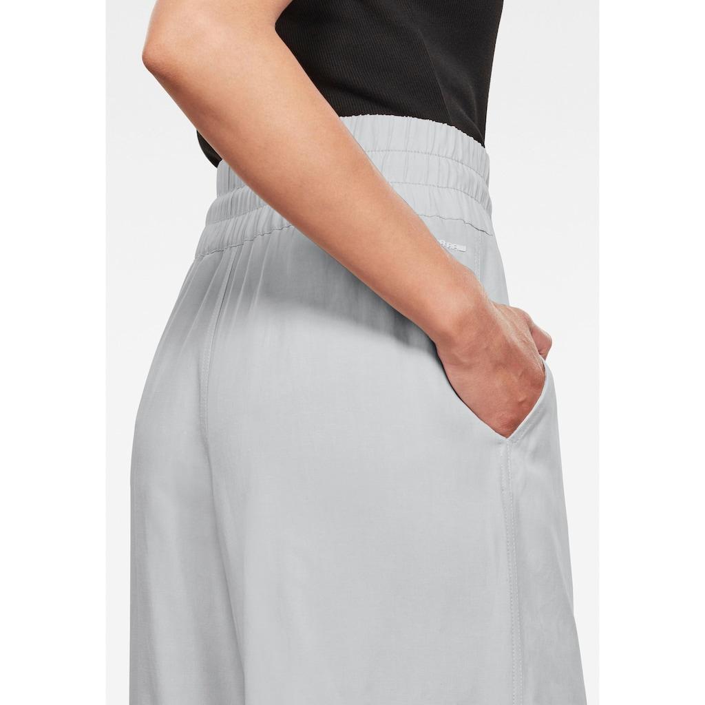 G-Star RAW Culotte »High Waist Culotte Hose«, mit breiten elastischen Bund und Kordelzug