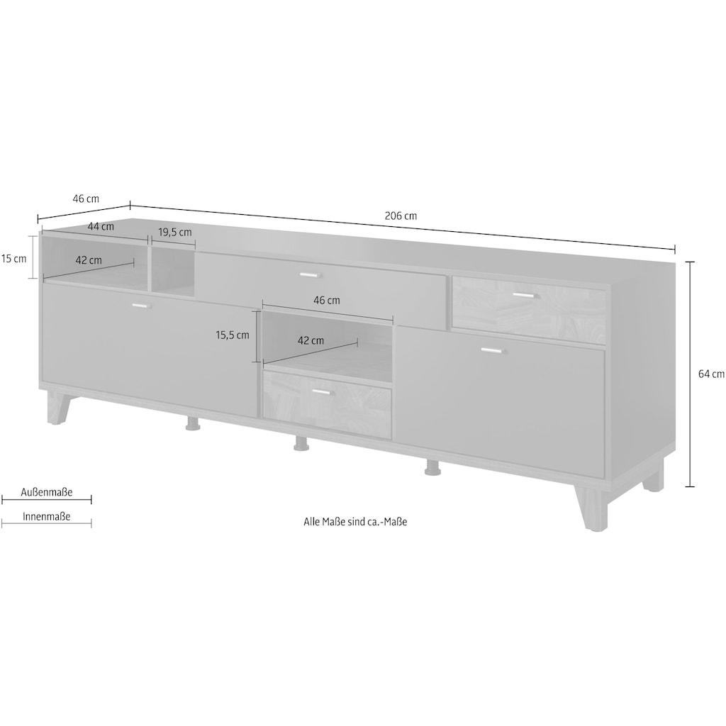 TRENDMANUFAKTUR Lowboard »Move«, Breite 206 cm