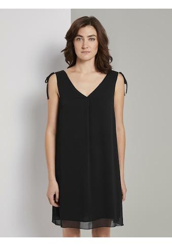 TOM TAILOR Chiffonkleid »Ärmelloses Chiffon - Kleid mit Schulter - Detail« kaufen