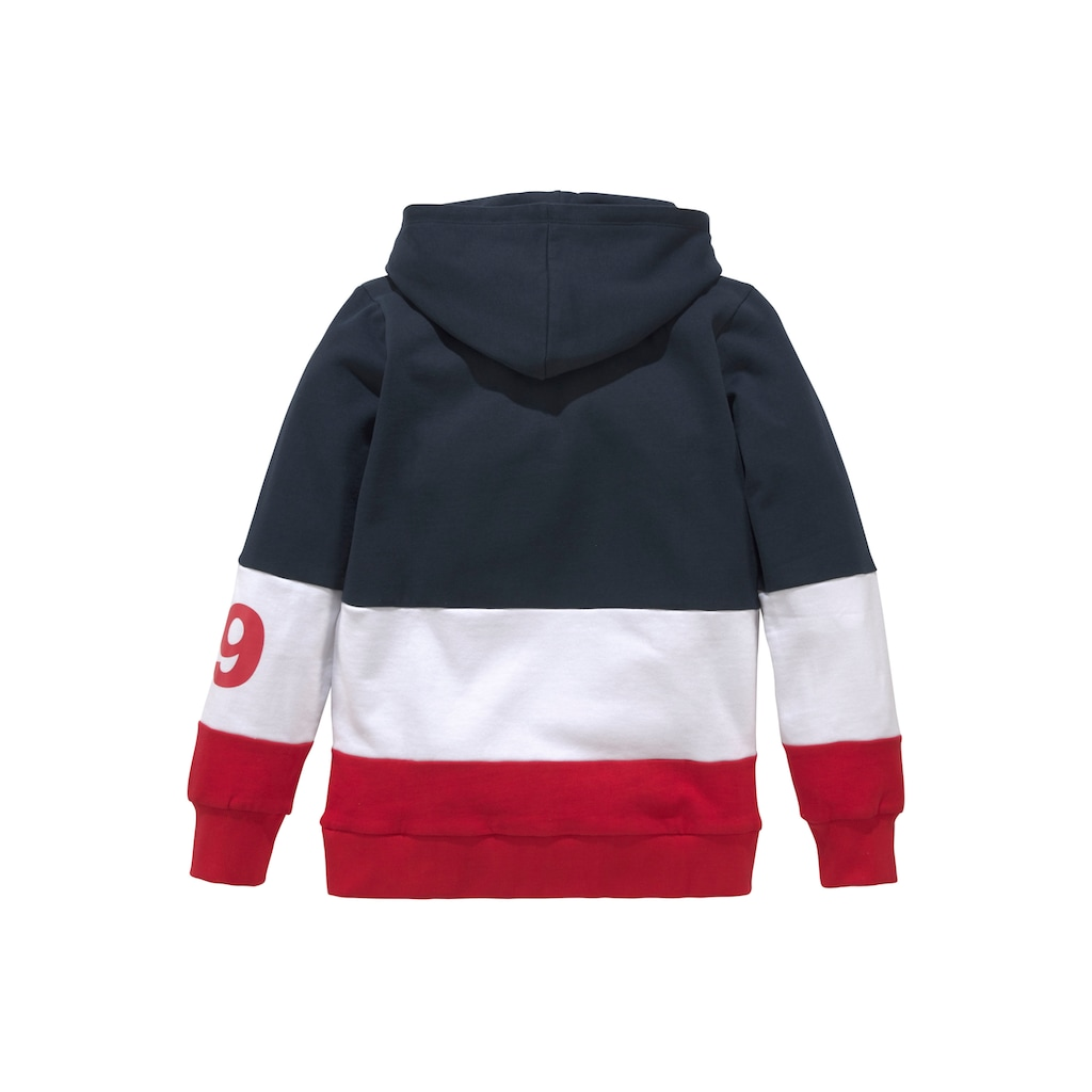 Bench. Kapuzensweatshirt, im colourblocking Design