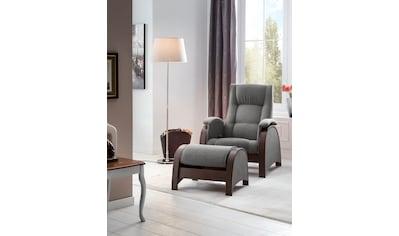 DELAVITA Relaxsessel »Kander«, mit Schaukelfunktion und Schaukelhocker, 3stufiger Rückenverstellung kaufen