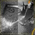 WALSER Passform-Fußmatten »XTR«, Skoda, Octavia, Kombi-Schrägheck, (4 St., 2 Vordermatten, 2 Rückmatten), für Skoda Octavia II BJ 2004 - 2013