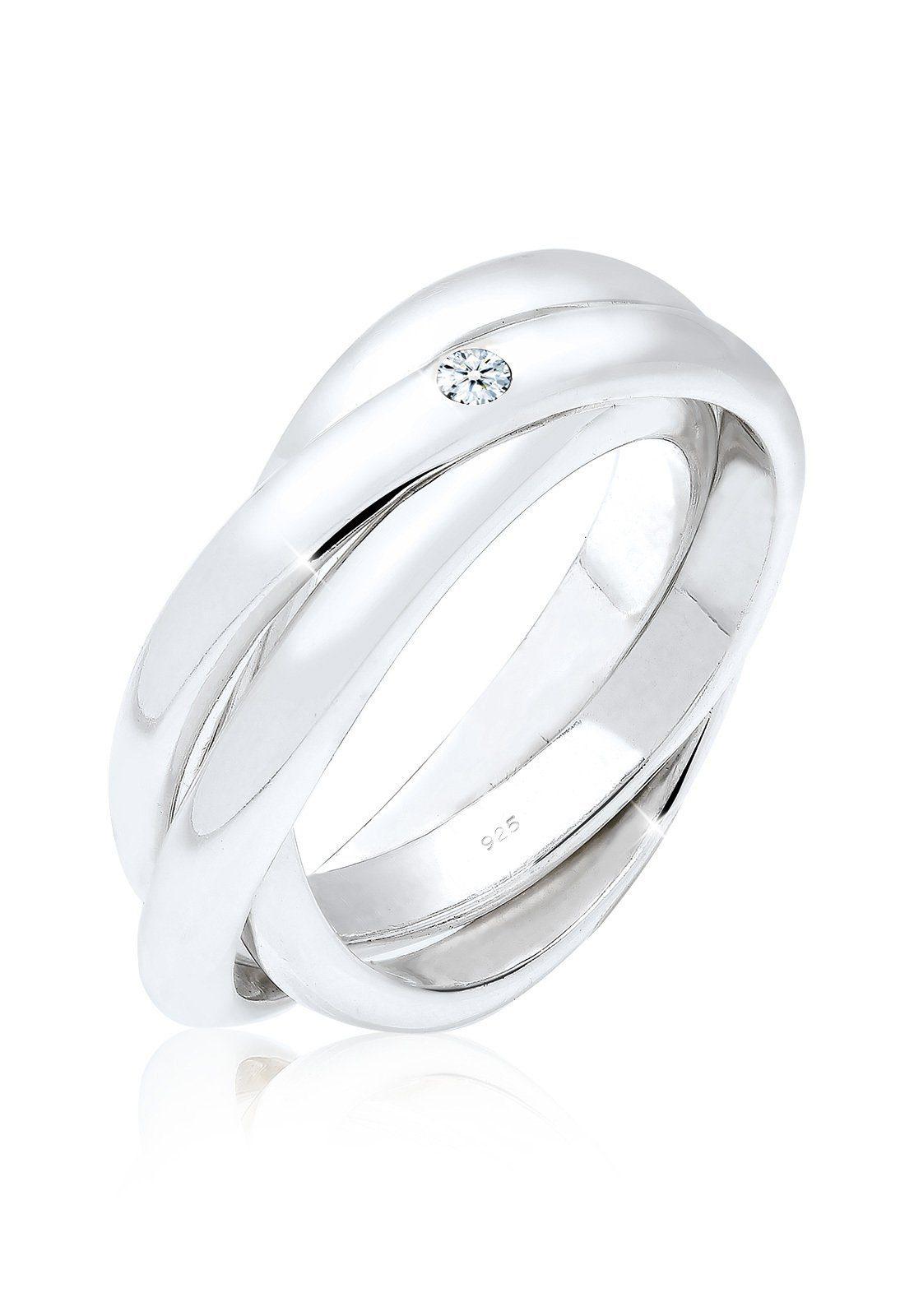 Elli Diamantring Verlobungsring Diamant 003 ct 925 Silber | Schmuck > Ringe > Diamantringe | Weiß | Elli