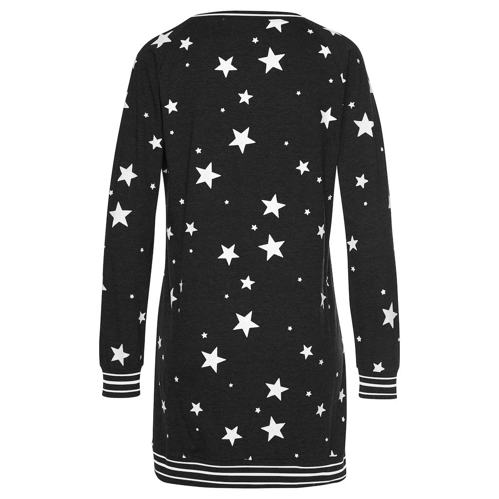 Vivance Dreams Sleepshirt, mit angesagtem Sternedruck