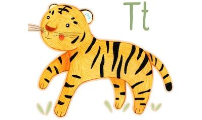 Wall-Art Wandtattoo »Tiger Tierwelt Buchstabe T« kaufen