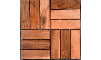 Merxx Holz - Fliesen »Eukalyptus« mit Klick - Verbindung, Fläche: 3,6 m²/Paket, braun kaufen