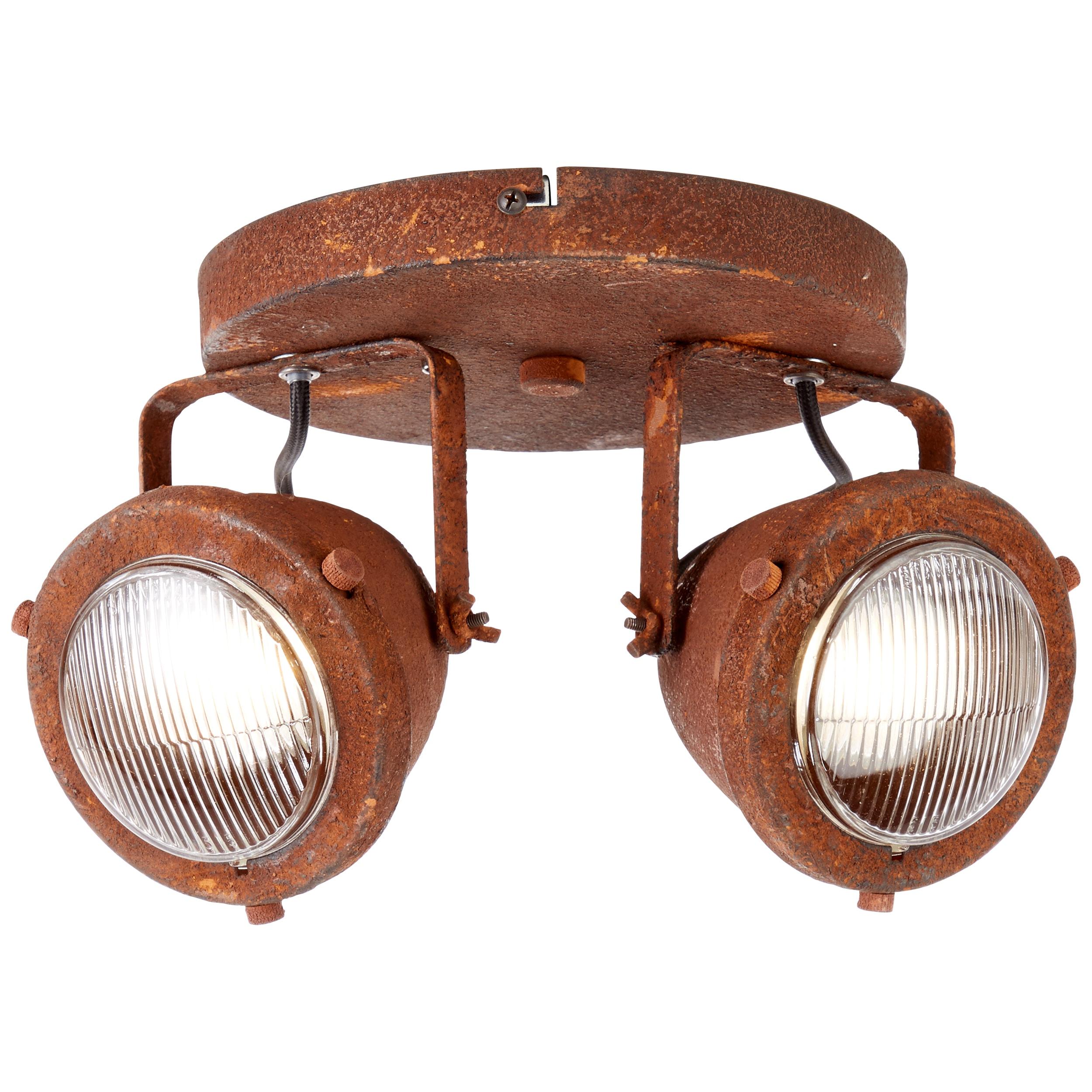 Brilliant Leuchten Carmen LED Spotrondell 2flg rostfarbend
