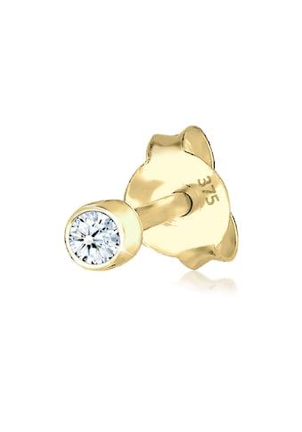Elli Paar Ohrstecker »Single Stecker Diamant (0.03ct) Basic 375 Gelbgold« kaufen