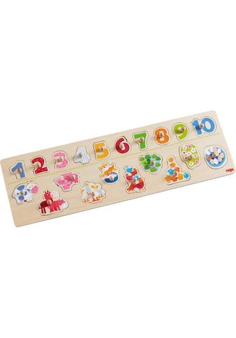 Haba Steckpuzzle »Tierischer Zählspaß«, (20 tlg.) kaufen