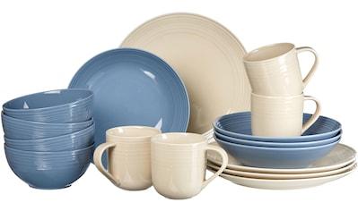 Ritzenhoff & Breker Kombiservice »Levi«, (Set, 16 tlg.), Blau/Creme kaufen