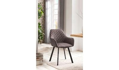 SalesFever Armlehnstuhl, Rückenlehne mit Rautensteppung, im 2er-Set kaufen